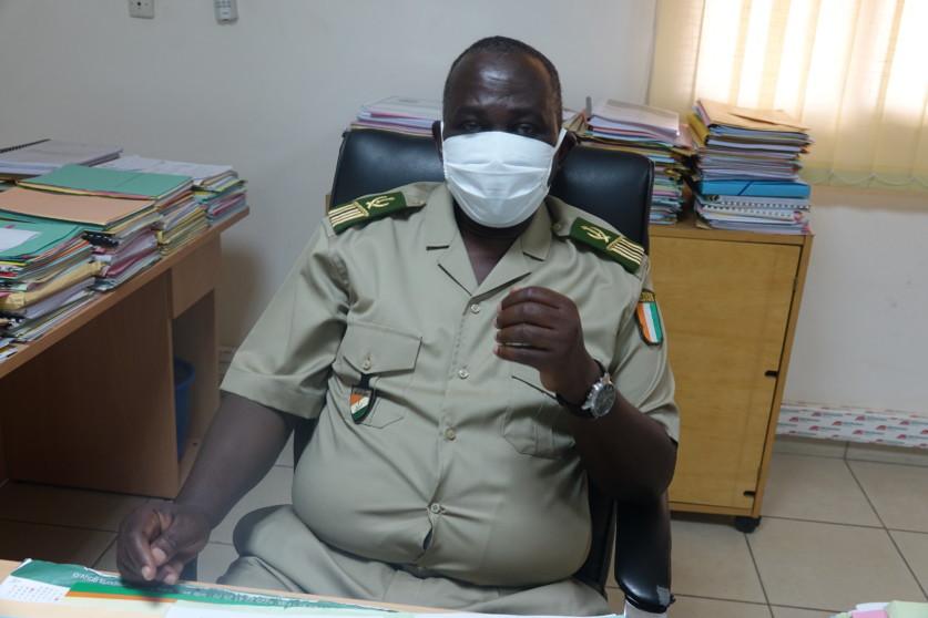 """Col Fadiga Mohamed (Douanes Sud-Comoé ) : """"La fermeture des frontières due à la Covid-19 a contribué à la baisse de la contrebande""""."""