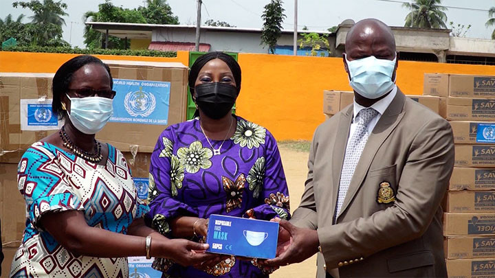 L'Unicef et l'OMS offrent des masques au Ministère de l'Education nationale