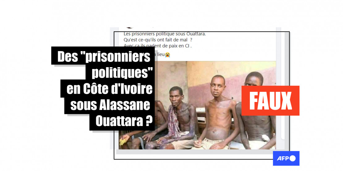 Cette photo de prisonniers date au moins de 2006, bien avant l'arrivée au pouvoir d'Alassane Ouattara